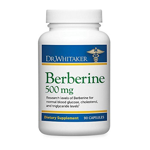 Dr. Whitaker's Berberine 500 mg Supplement Helps Support Healthy Blood Sugar and Cholesterol Levels, 630 Capsules (210-Day Supply)