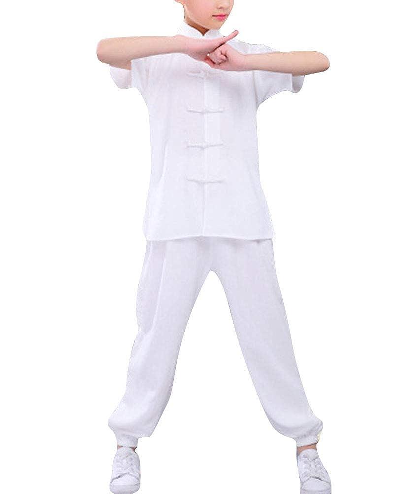 Unisex Niños Ropa de Tai Chi Tang Traje Kung Fu Artes ...