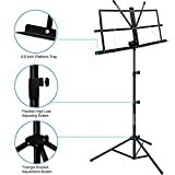 Music Stand, Kasonic 2 in 1 Dual-Use Folding Sheet