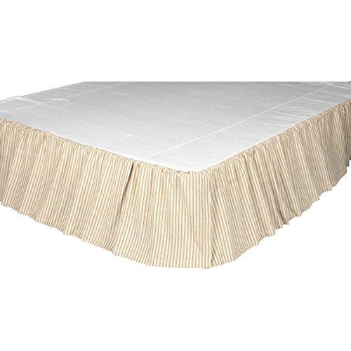 VHC Brands Joanna Ticking Stripe Bed Skirt, - Ticking Striped