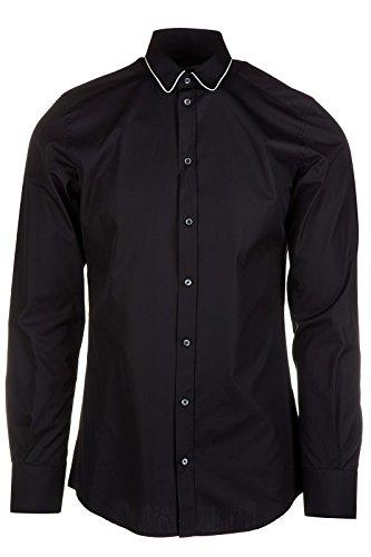 [Dolce&Gabbana men's long sleeve shirt dress shirt black US size 41 (US 16) G5EE2T FU5GK N0000] (Dolce & Gabbana Long Sleeve Dress Shirt)