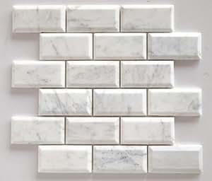 Bianco Venatino Marble 2x4 Deep Beveled Amp Polished