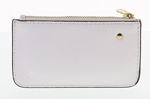 Michael Kors Vanilla (White) Fulton Leather Travel Key Pouch with Gold Hardware