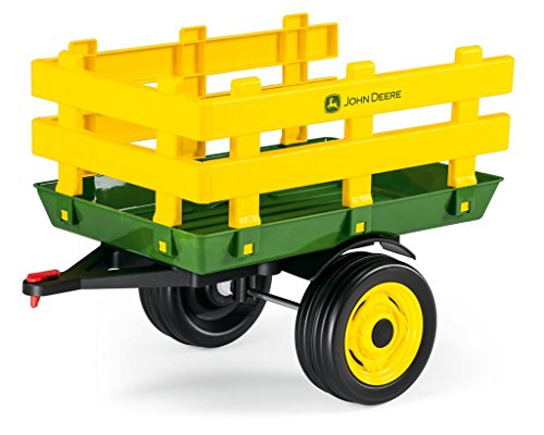 Peg Perego John Deere Stakeside Trailer Ride On, Green (Pedal Wagon)