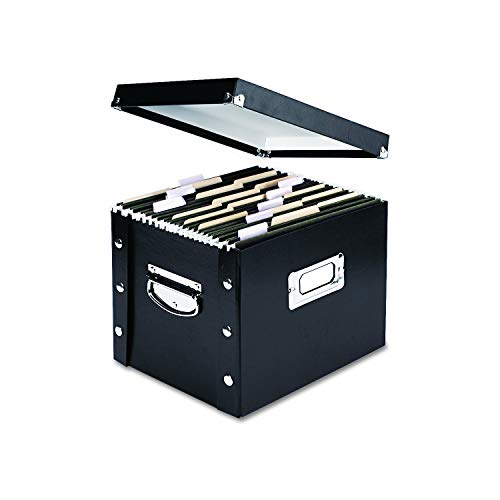 - Snap-N-Store Letter-Size File Box, Black (SNS01533)