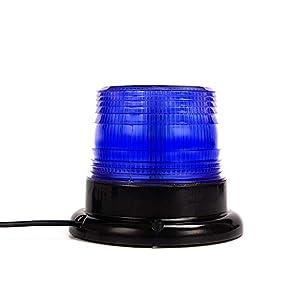 Luz de advertencia 12V LED Baliza Luces magnética Impermeable advertencia de emergencia para vehículo automotor Camión remolque Recargable 23