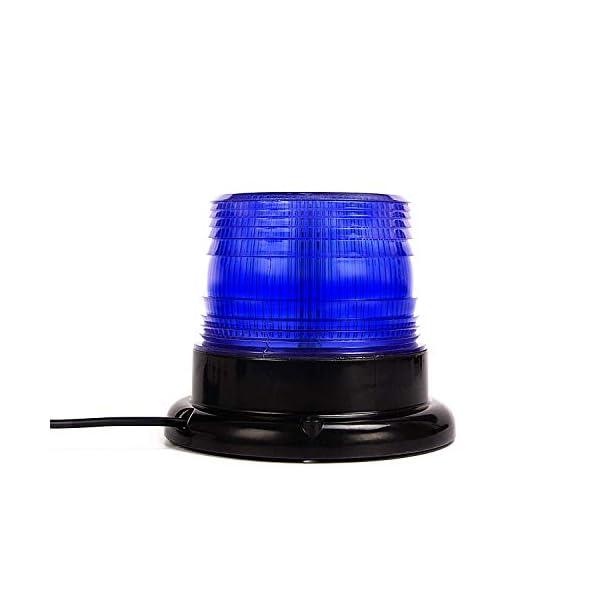 Luz de advertencia 12V LED Baliza Luces magnética Impermeable advertencia de emergencia para vehículo automotor Camión remolque Recargable 1