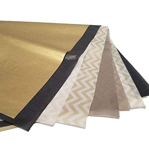 Metallic Wrapping Tissue Paper Set - 120 Sheets - 14