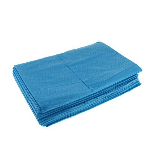 努力バースぬいぐるみKesoto 10枚 使い捨てベッドシーツ 使い捨て 美容 マッサージ サロン ホテル ベッドパッド カバー シート 2色選べ - 青