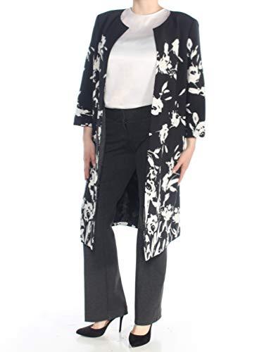 Kasper Women's Crepe Floral Topper, Black/White, 18