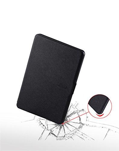 Kindle E-Reader Funda GOGODOG Ultra Delgado Cuero Parachoque Cuerpo Completo Proteccion Billetera Negocio Estilo con Función de Soporte y Auto Dormir Despierta (Negro) Púrpura