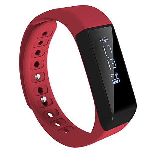 Image Fitness Tracker, Activity Tracker Watch with Sleep Monitor, Waterproof Bluetooth Smart Fitness Band with Step Counter, Calorie Counter, Pedometer Watch for Kids Women and Men