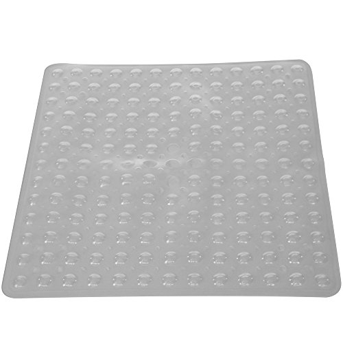 PCP Non-Slip Shower Safety Mat for Traction On Tub & Tile, Clear