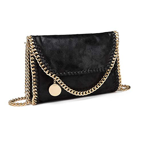 albicocca Elegant Bridal Nero On Bag Shoulder Evening Lulu Wedding Ride Bag oro Mini Miss Clutch Chain qOwU8W4nP