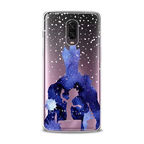 Lex Altern TPU Case OnePlus 6T 6 2018 5T 5 2017 3 2016 One+ Three 1+ Blue Watercolor I'm a Groot Clear Design Funny Simple Paint Cover Printed Transparent Protective Soft Silicone Women Lady Gift ()