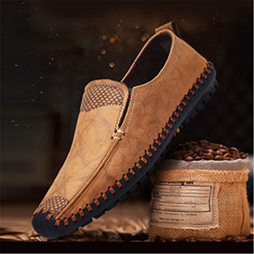 de conducen la Que Viejos Suave Amarillo Alpargatas Las de Hombre Pekín conducción Tela Suave cómodas para de Zapatos SqH87wpS