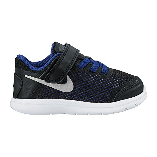 Nike Flex 2016 Rn (Tdv), Zapatos de Primeros Pasos Unisex Bebé Negro / Azul