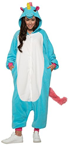 Forum Women's Unicorn Onesie Jumpsuit Costume, Blue/White, STD -