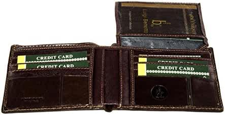 Wallet man LUIGI BENETTON rhum of leather credit card holder A4432