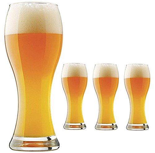 Pier 1 Imports Libbey Craft Brews 23 oz Pilsner Wheat Beer Glasses, Set of 4, Made in - One Pier Glasses