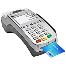 Verifone VX 520 Dual Com Credit Card Machine Terminal USA ONLY, EMV (Europay,MasterCard,Visa) & NFC (Near Field Com) Apple Pay Google Wallet,Dial Up/Internet Connection- NEW MERCHANT ACCOUNT REQUIRED
