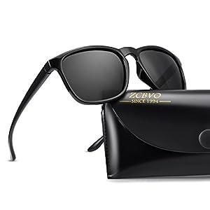 Polarized Sunglasses for Men Driving sunglasses Fashion Vintage Wayfarer Sun Glasses(Y1)