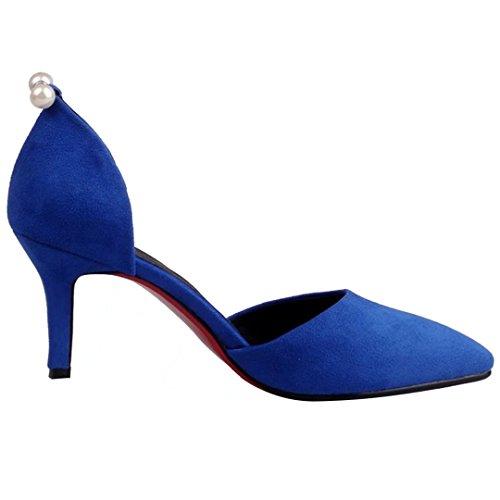 AIYOUMEI Tobillo Mujer Terciopelo Bajo Azul de rfYwd1xfqH