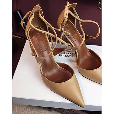 Basic Almond Real Pump Leather 3 us8 2 Summer Casual ruby Comfort 2in Black Women's Pump LvYuan eu39 Basic Ruby Comfort 4in Heels uk6 cn39 ggx wvPYxnOq4A