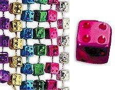 Bunco Dice Mardi Gras Bead Necklaces by Tropical Haze (Dice Mardi Gras Beads)