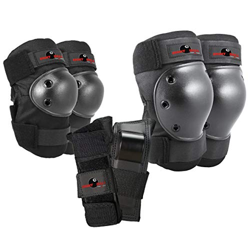 Eight Ball Kids Multi-Sport Pad Set with Knee Pads, Elbow Pads, and Wristguards, Small/Medium - Ages 8+