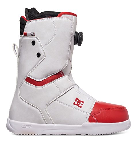 DC SHOES SCOUT BOA BOOTS WHITE RED FW 2017 -US 9 EUR 42 CM 27