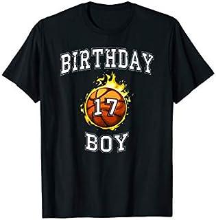 17th Birthday Boy t-shirt basketball shirt 17 years old T-shirt | Size S - 5XL