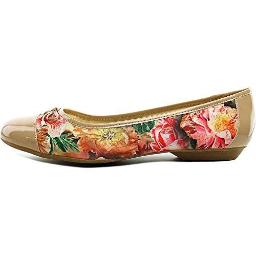 Karen Scott Womens Rylee Gesloten Teen Ballet Flats Tan / Floral