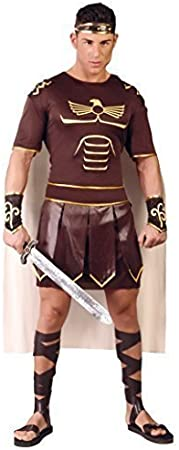 Mens Roman Solider Costume Greek Gladiator Warrior Fancy Dress Outfit