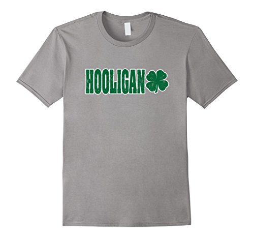 - Men's Hooligans, St. Patrick's Day, Four Leaf Clover T-Shirt 3XL Slate