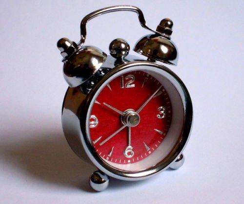 MAZIMARK--Small Red black Table Clock Alarm Quartz Watch Men Women Kids Children Gift (Blind Man Costume Ideas)