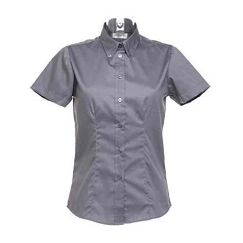 Anthracite Sleeve Kit Kustom Oxford Short Shirt Ladies BYxqTxF