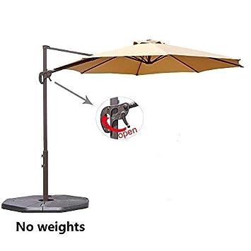 Le Papillon 10 ft Cantilever Umbrella Outdoor Offset Patio Umbrella Beige