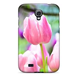 Durable Defender For Case Iphone 6Plus 5.5inch Cover PC Cover(nature Flowers Tulips)