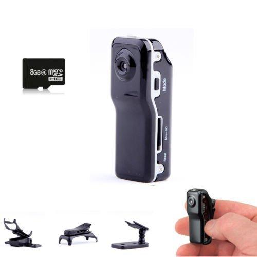 Xingan Mini-DV MD80 Sports Videokamera Audio Helm-Kamera versteckte Spion Tragbare digitale Webcam Portable DVR Recorder Camcorder+ 8GB Micro SD Karte