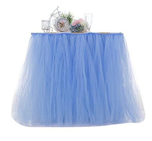 LaoZan Dcorations de Fte Tutu Jupe de Table en Tulle Table Dcoration pour Mariage Fte d'anniversaire Lake Bleu