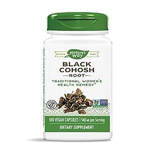 Gut Health Shop 41RVJut%2B6jL._SS300_ Nature's Way Black Cohosh Root, 540 mg per serving, Non-GMO, Gluten Free, 180 Capsules