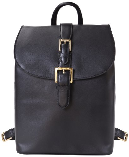 Isaac Mizrahi Kathryn mini Camera Backpack in Genuine Leather for DSLR Cameras, Lenses, Accessories and Other Tech Items-with Removable Internal Padded Pouch by Isaac Mizrahi