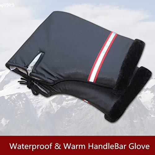 Value-5-Star - Pair Motorcycle Bike Handlebar Grip Hand Muffs Cover Warm Gloves Winter Warmer Waterproof For Honda