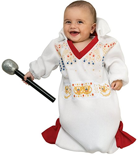 Rubie's Costume Co Baby-boys Newborn Elvis Bunting Costume, White/Red, (White Elvis Costume)