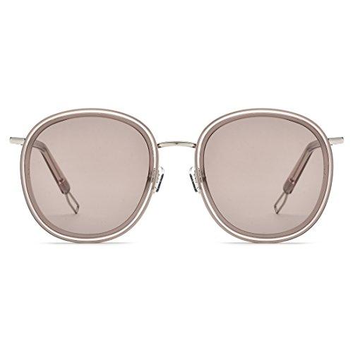 Gray para LBY Sol para Frame Frame Lens Mujer Frame de Gafas Lens Gafas Tea De Metal Tea Silver UV Color Hombre Polarizadas Sol Neutral qOUr7fWq1
