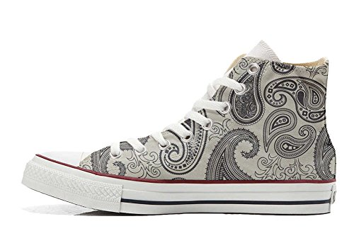 Customized Schuhe Hi Star Schuhe Light Converse personalisierte Handwerk Paisley All qf0Ot