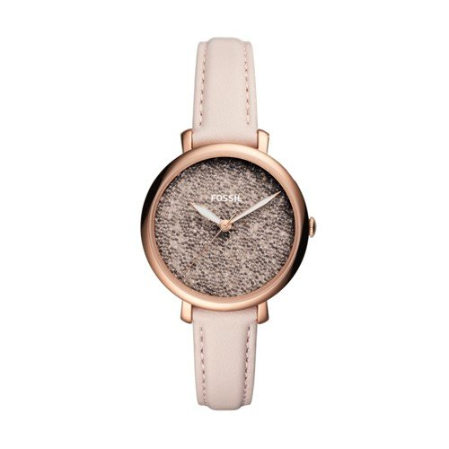 (Fossil Women's 'Jacqueline' Quartz Stainless Steel and Leather Casual Watch, Color:Pink (Model: ES4345))