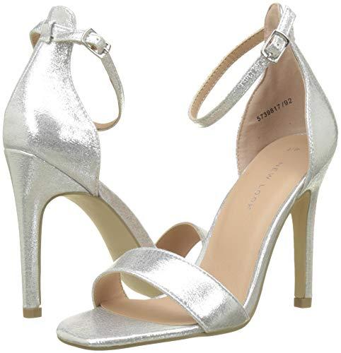 Femme Look Rocket Cheville Escarpins 3 Silver New Bride Silver 92 HC4AqwHY