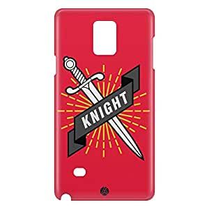 Loud Universe Samsung Galaxy Note 4 3D Wrap Around Knight Print Cover - Red